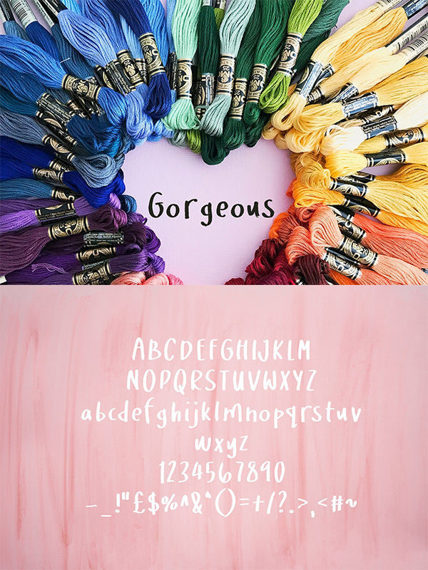 Gorgeous Handwritten Brush Font