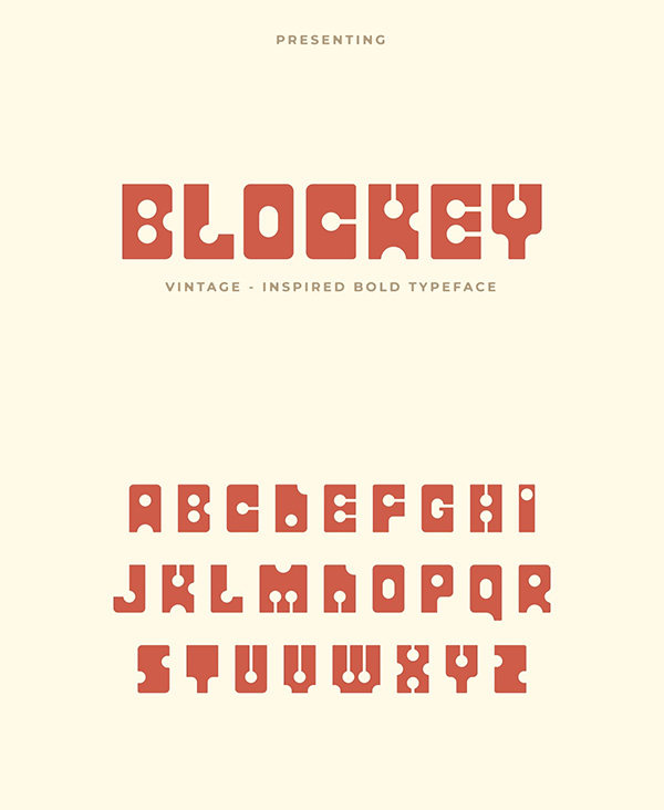 Blockey Retro Display Font