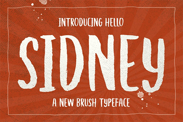 Hello Sidney Brush Font