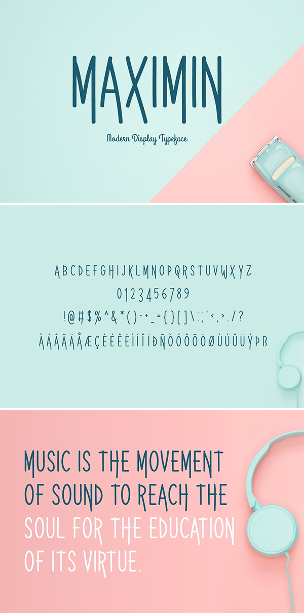 Maximin Display Typeface