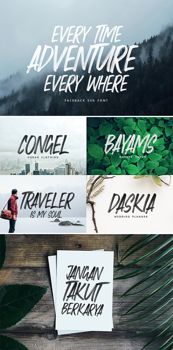 60 Best Brush Fonts For Graphic Designers - 60