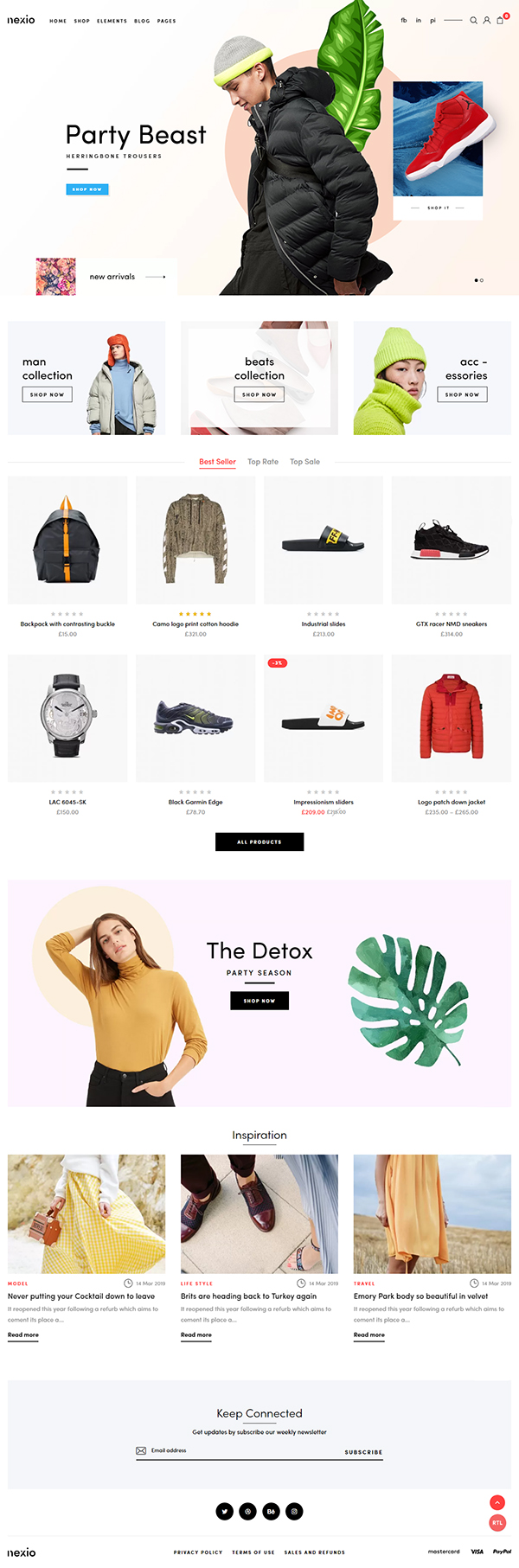 Nexio - Multipurpose WooCommerce Theme