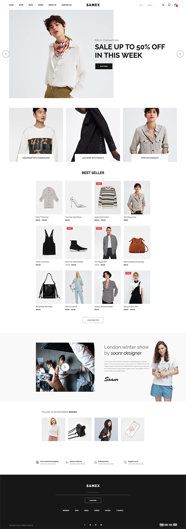Samex - Clean, Minimal Shop WooCommerce WordPress Theme