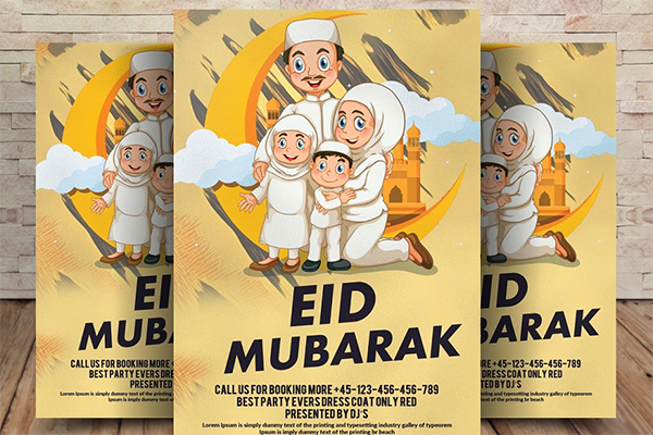 Happy Eid Mubarak Flyer