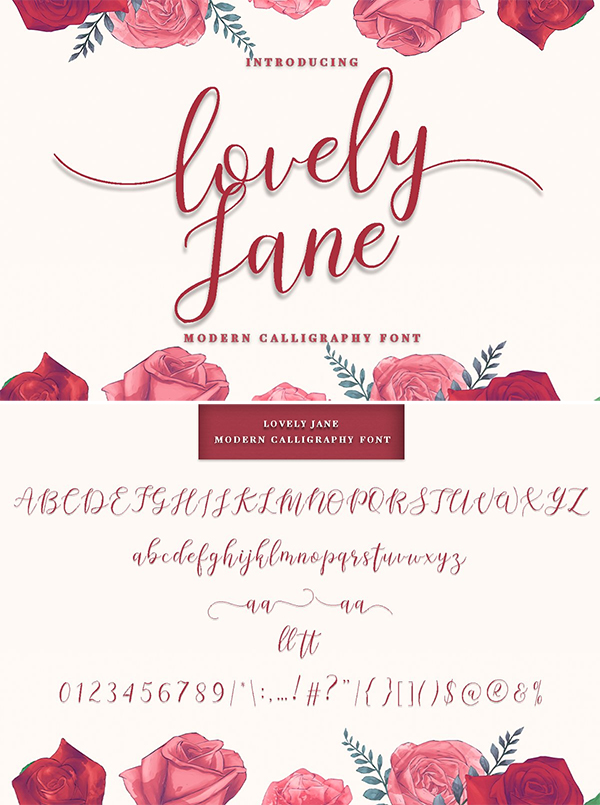 lovely Jane Modern Calligraphy Font