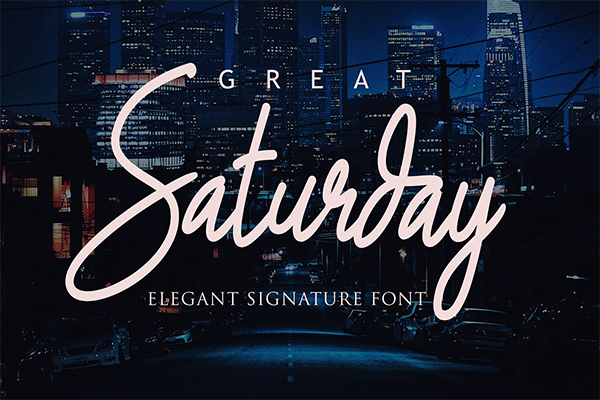 Great Saturday Signature Font