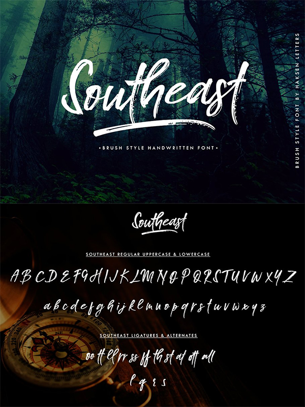 Southeast Brush Font