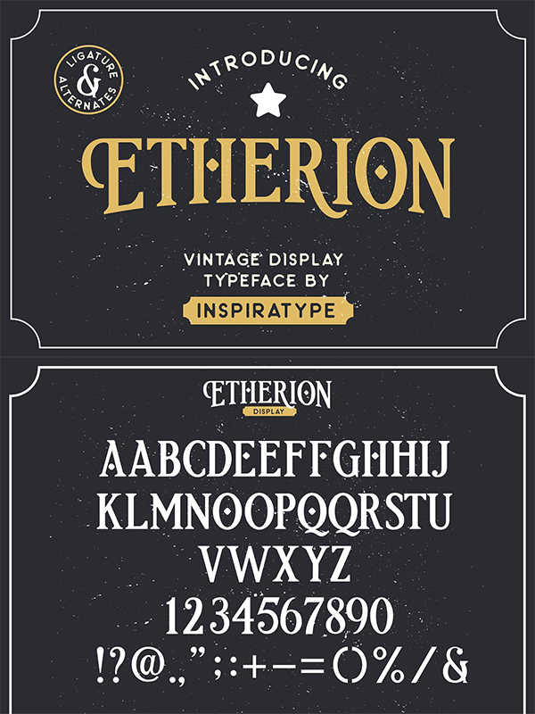 Etherion - Vintage Display Font
