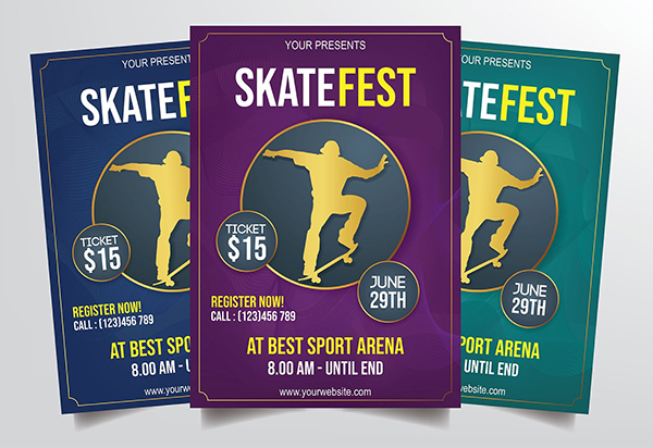 Skateboard Festival Flyer Template