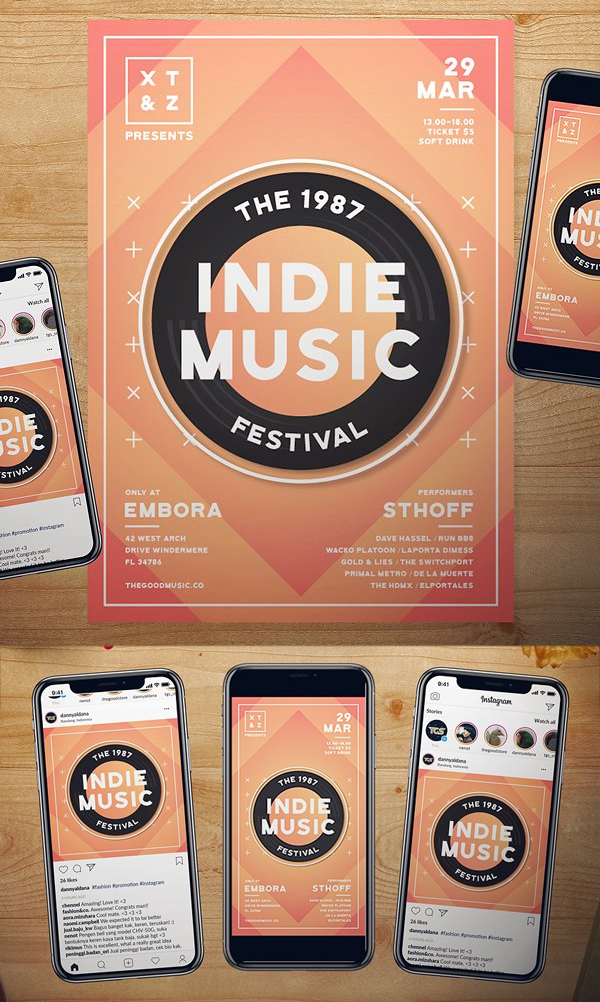 Indie Music Flyer Set