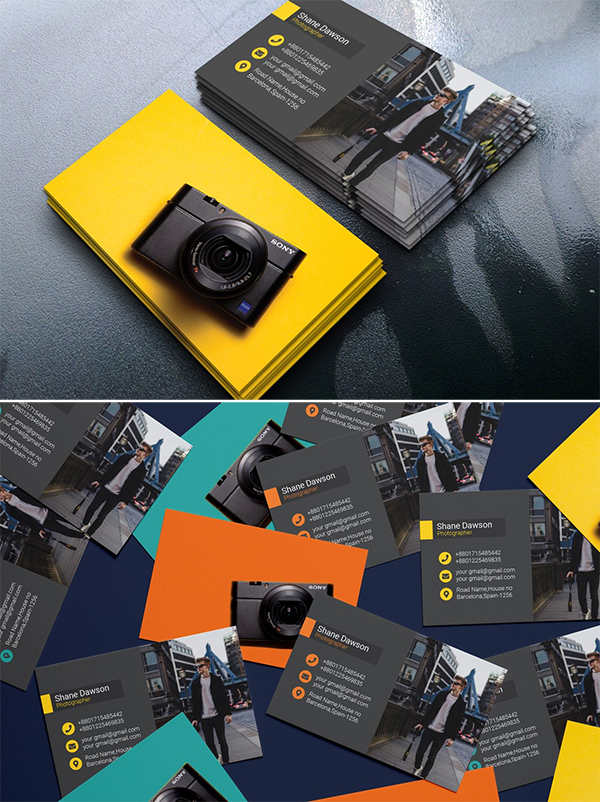 Colorful Photographer Business Card