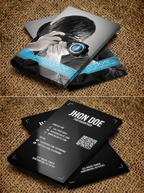 Stylish Photographer Business Card