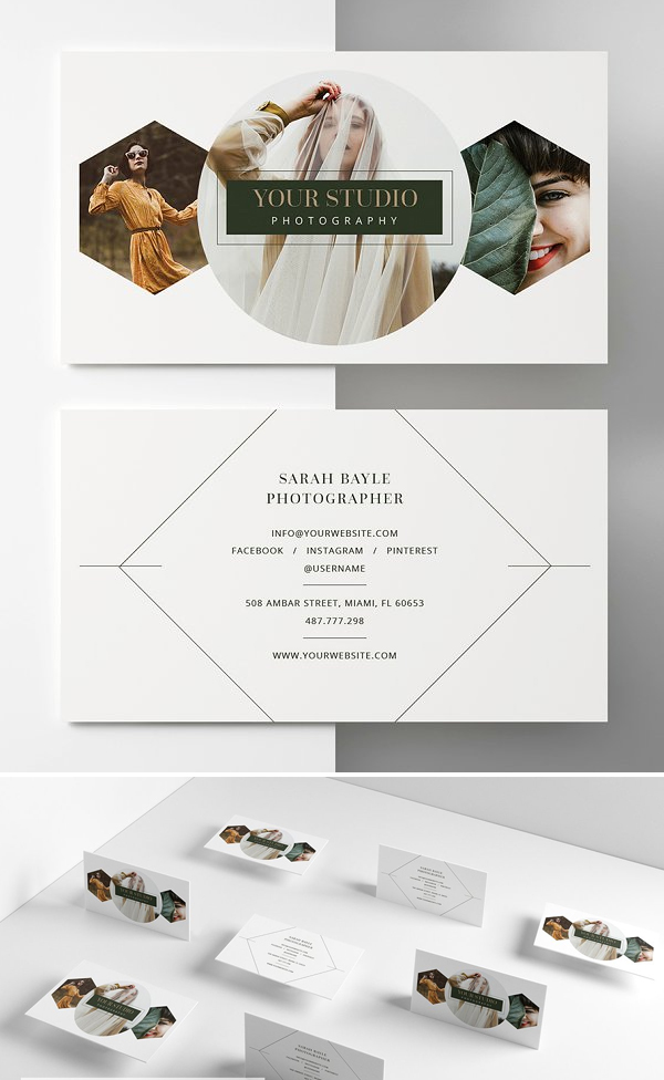 Clean Photographer Business Card