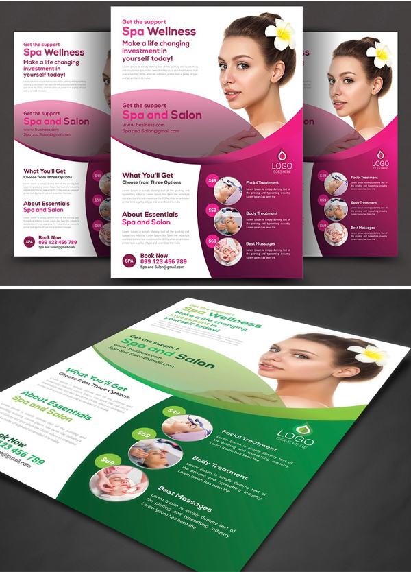 SPA Beauty Flyer Template