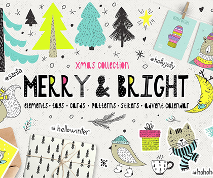 Freebie : Creative & Colorful Christmas Collection