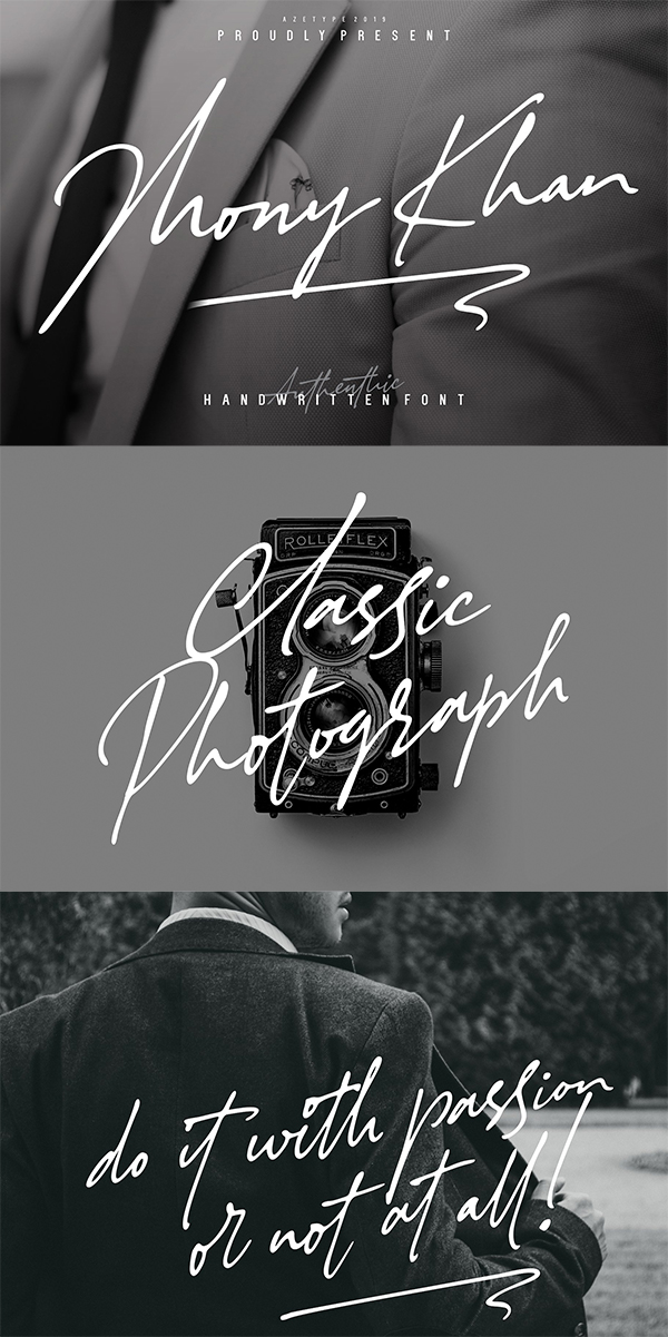 Authentic Handwritten Font
