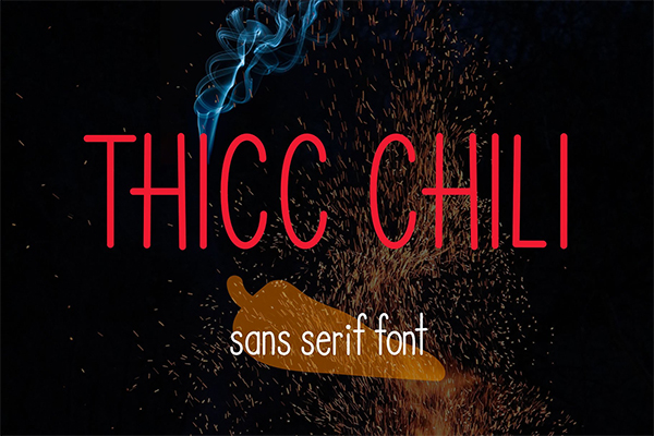 Thicc Chili font