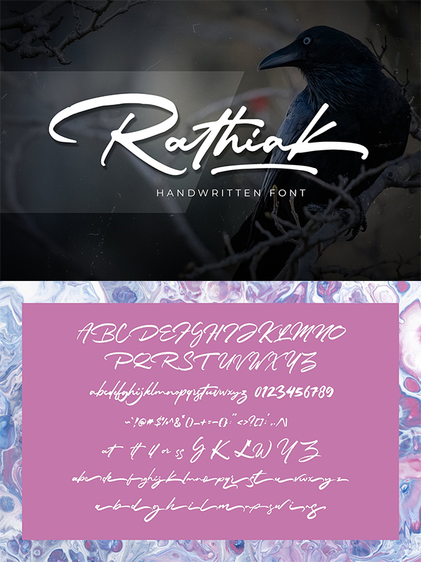 Rathiak - Handwritten Font