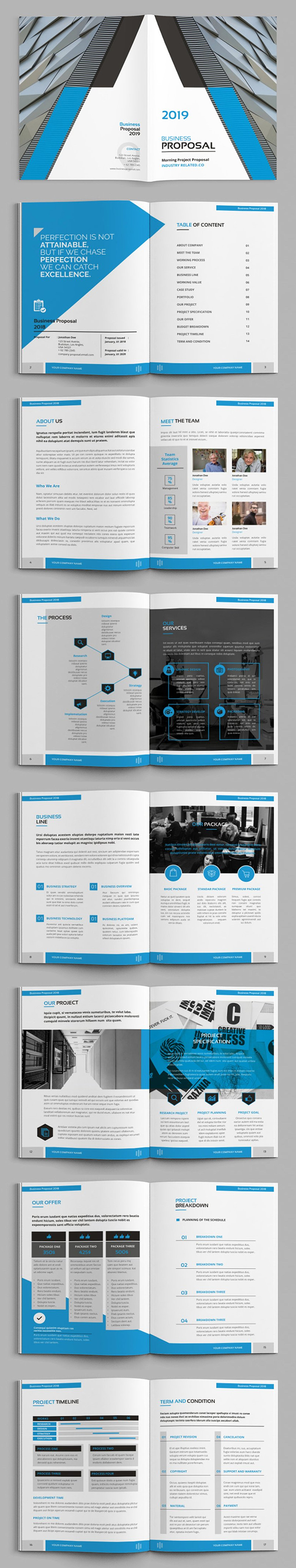 Yuzn - A4 Proposal Brochure Template