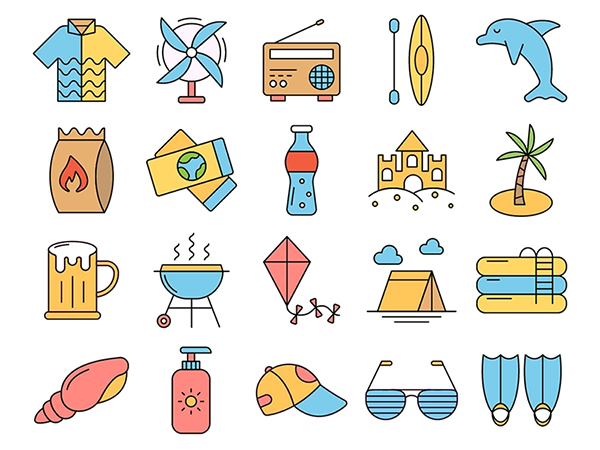Summer Time Vector Freebie Icon Set
