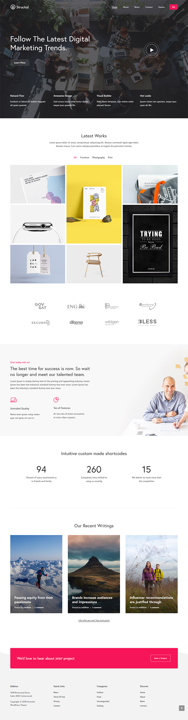 Structial - Creative Multi-Purpose WordPress Theme