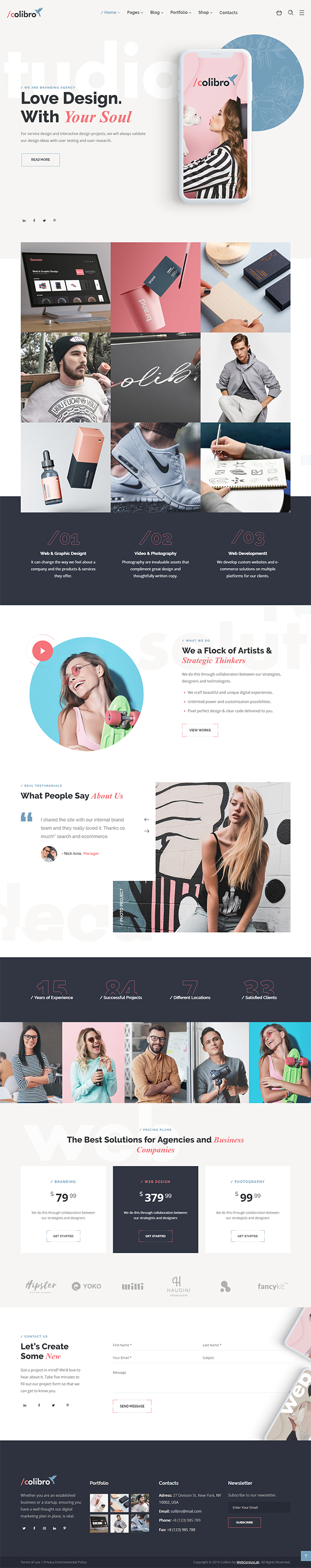 Colibro - Multipurpose Portfolio WordPress Theme