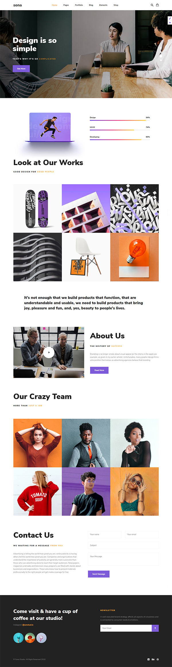 Sona - Web Design and Digital Marketing Agency WordPress