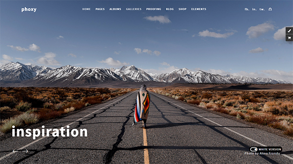 Photography Phoxy - Photography WordPress for photography