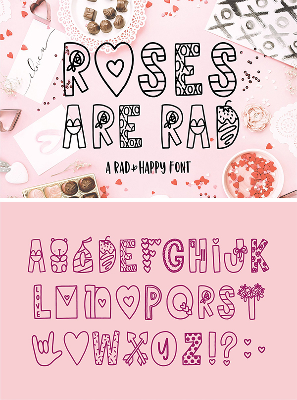 Roses Are Rad Font