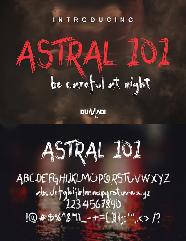 Awesome Astral Brush Font