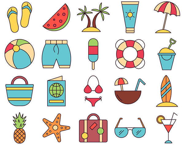 Summer Vector Freebie Icon Set
