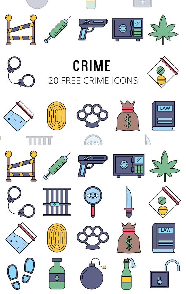 Crime Vector Free Icon Set
