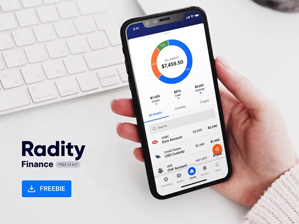 Radity Finance UI Kit - Freebie