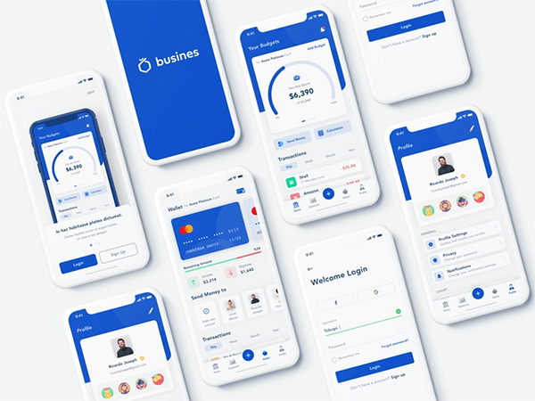 Business Banking Mobile App Design