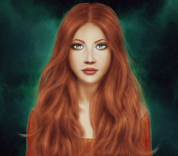 How to Paint a Woman Portrait from Scratch in Photoshop Tutorial