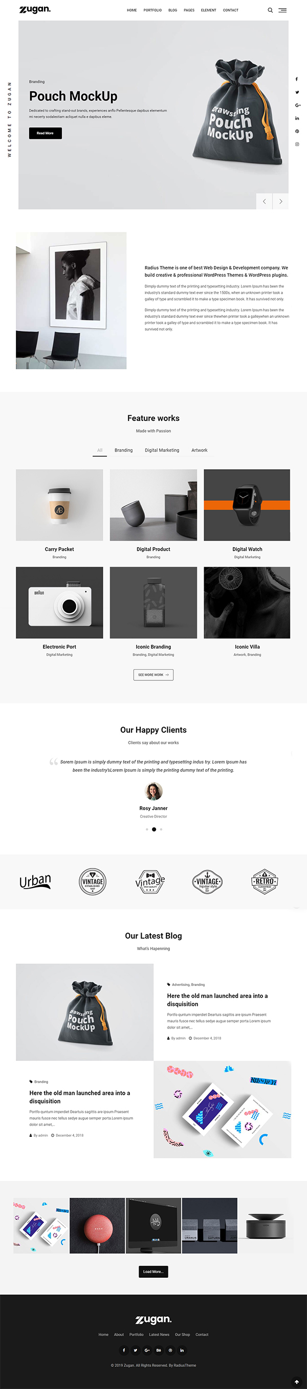 Zugan - Minimal Portfolio WordPress Theme