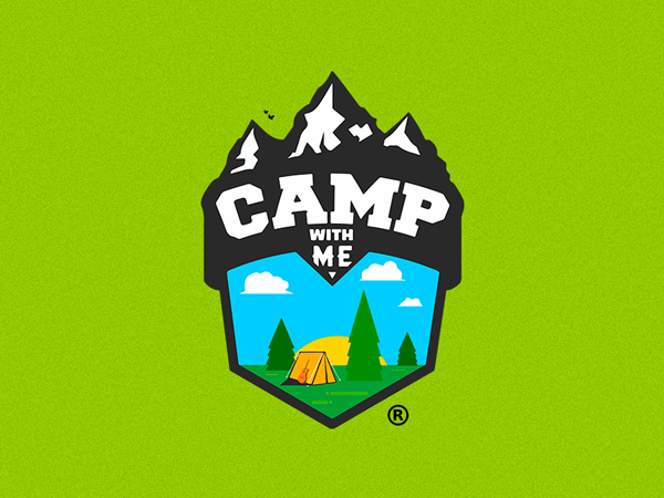 Camp With Me Logo Design