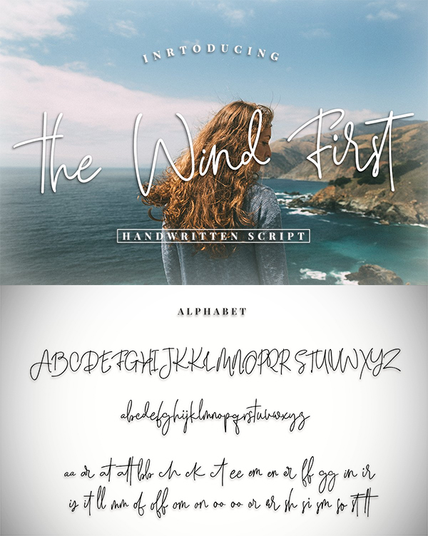 The Wind First - Script font
