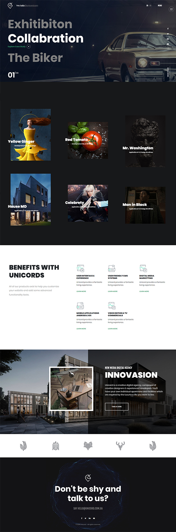 Unicord | Creative Portfolio for Freelancers & Agencies Theme