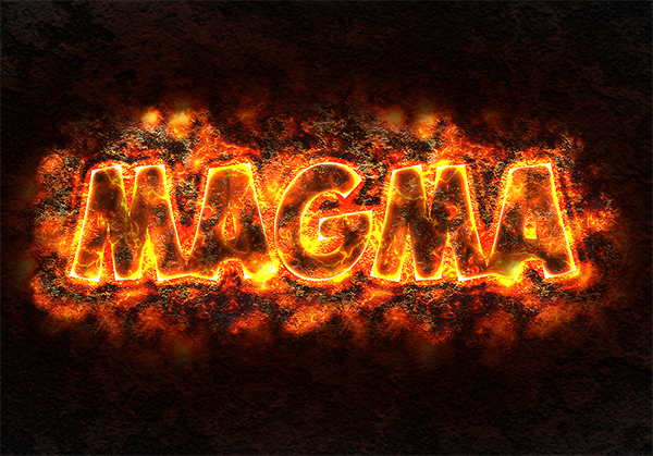 How to Create Lava or Magma Text Effect in Adobe Photoshop