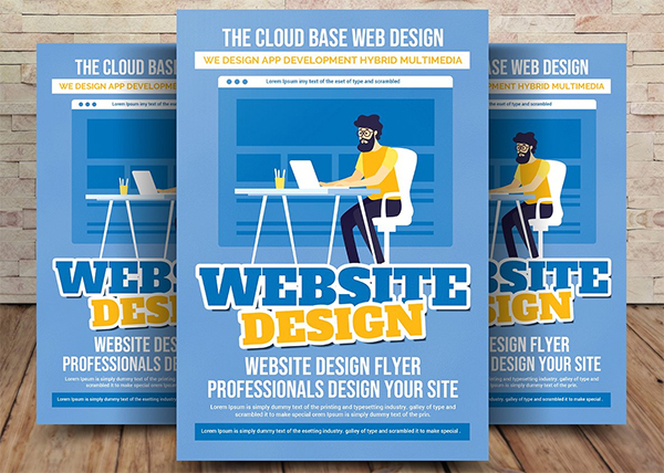 Flat Website Design Flyer