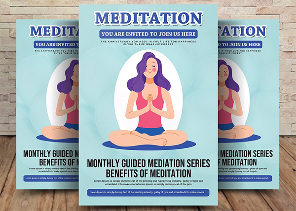 Yoga and Meditation Flyer