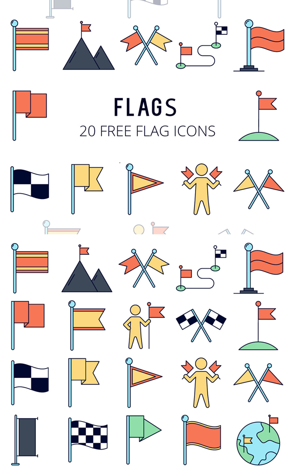 Flags Vector Free Icons Set