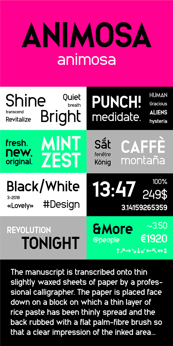 Animosa Display Free Font