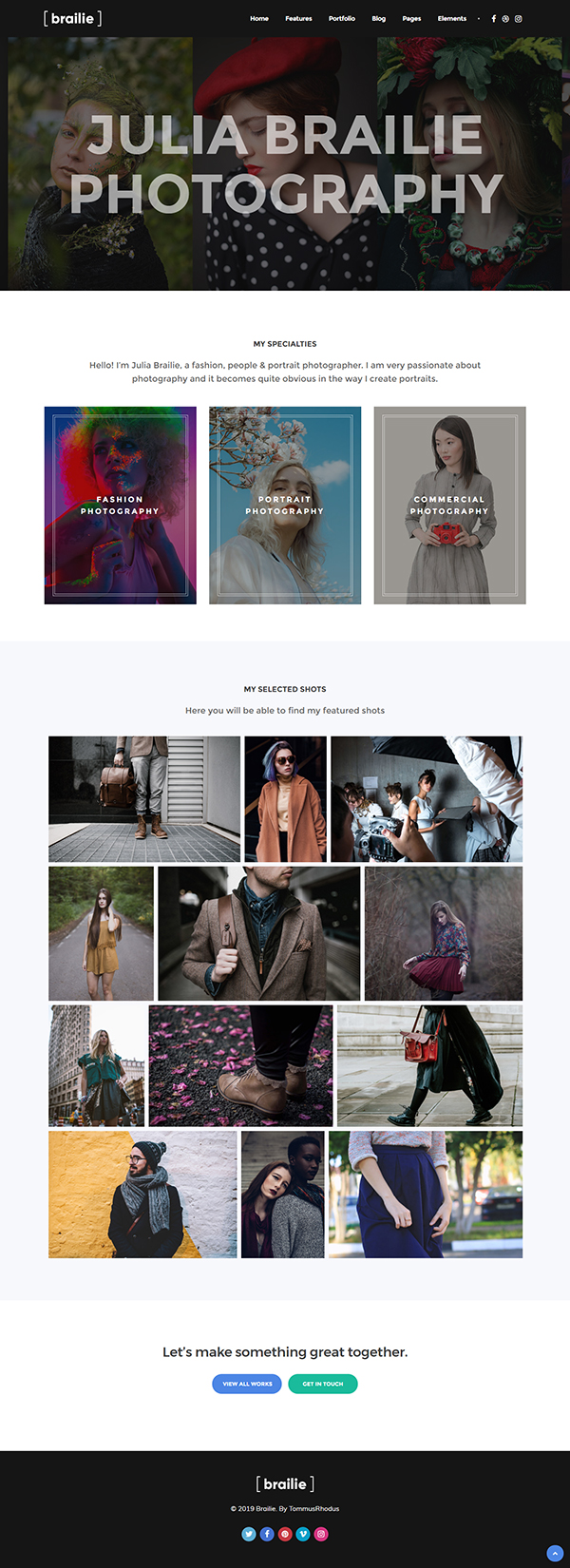 Photography | Brailie Responsive Photography WordPress Theme