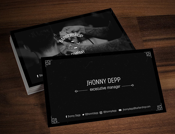Barely Business Cards Templates