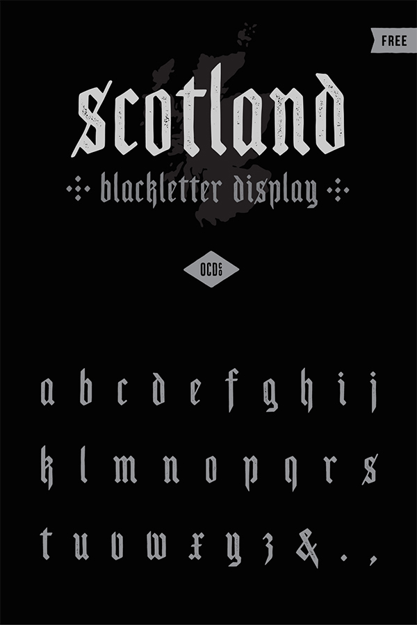 Blackletter Display Free Font