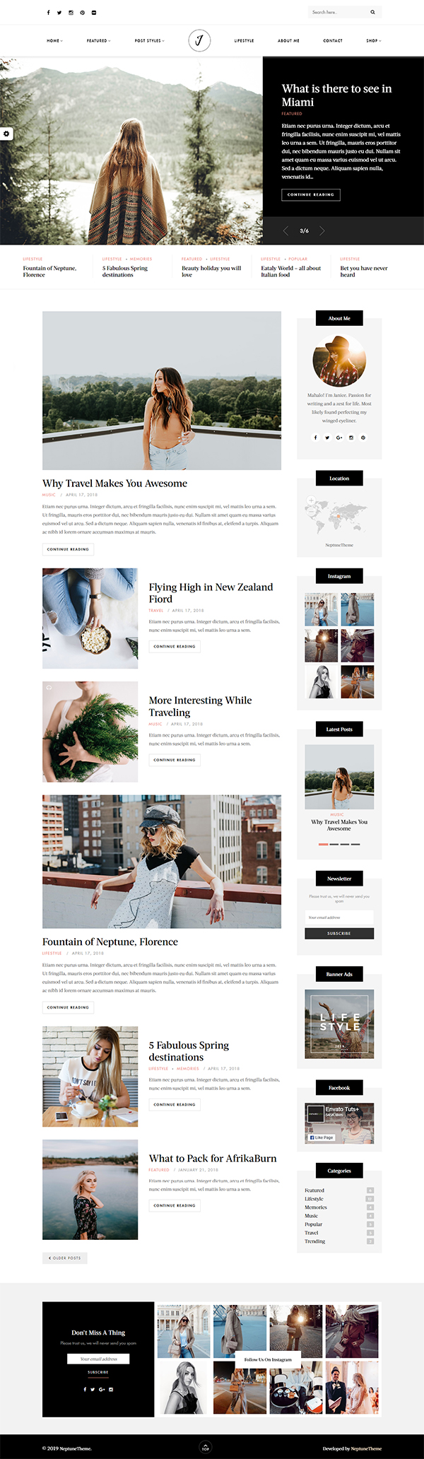 Janice - A Responsive WordPress Blog and Shop Theme