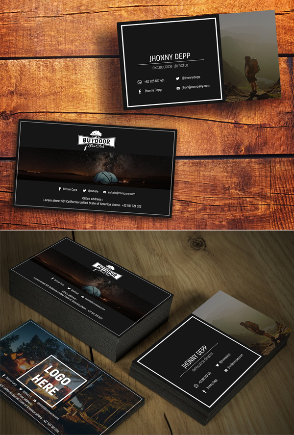 Exhale Business Card Templates