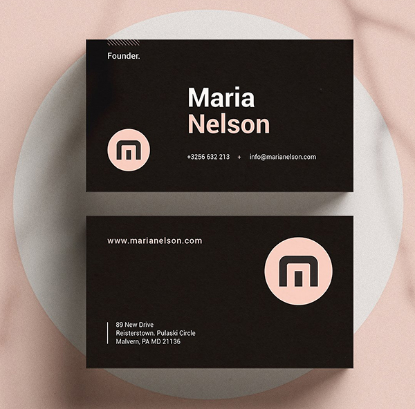 Modern Business Card | Ms word